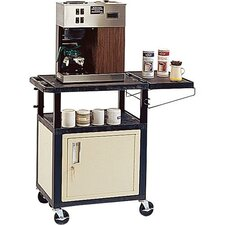 "<strong>H. Wilson Company</strong> Coffee 34"" Cabinet Cart with Side Shelf"