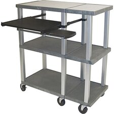 Tuffy Open Shelf Presentation Station with Nickel Legs