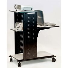 <strong>H. Wilson Company</strong> 4-Shelf Presentation Station with Cabinet in Black / Gray
