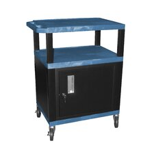 "Tuffy 34"" Utility AV Cart with Cabinet"