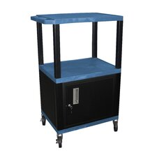 "Tuffy 42"" Utility AV Cart with Cabinet"