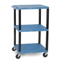 "<strong>H. Wilson Company</strong> Tuffy 42"" 3-Shelf Utility AV Cart"