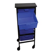 Mobile Workstation Storage Unit with Drawers