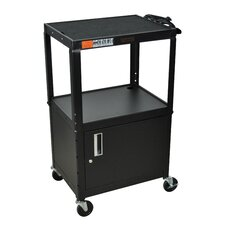 <strong>H. Wilson Company</strong> AV Cart with Cabinet