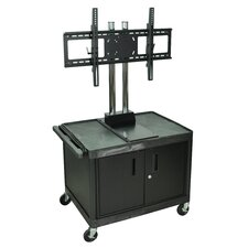"<strong>H. Wilson Company</strong> Tuffy 47"" Mobile Flat Panel TV Cart with Locking Cabinet (For Screens 32""-60"")"