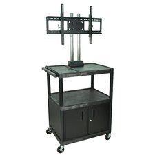 "Tuffy 44"" Mobile Flat Panel TV Cart with Locking Cabinet"