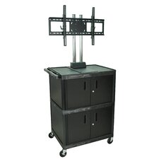 "<strong>H. Wilson Company</strong> Tuffy 71"" Mobile Flat Panel Cart with Cabinet  (Fits 32"" - 60"" Screens)"