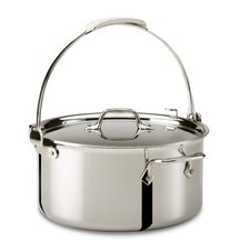 <strong>All-Clad</strong> Stainless Steel 8-qt. Pouring Stock Pot with Lid
