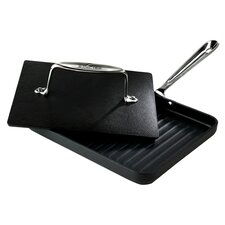 "Specialty Cookware 2 Piece 8"" x 10"" Nonstick Panini Pan Set"