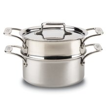 d5 Brushed Stainless Steel 3-qt. Round Casserole
