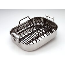 Stainless Steel Petite Roasting Pan with Rack
