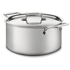 <strong>All-Clad</strong> d5 Brushed Stainless Steel Stock Pot with Lid