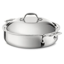 Stainless Steel 4-qt. Sauteuse Pan with Lid
