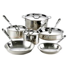 <strong>All-Clad</strong> Copper Core 10-Piece Cookware Set