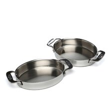 Stainless Steel Oval BakerSet of 2)