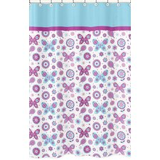 Spring Garden Brushed Microfiber Shower Curtain