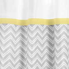 Zig Zag Cotton Shower Curtain