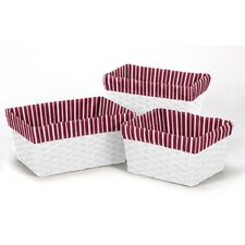 <strong>Sweet Jojo Designs</strong> 3 Piece Stripe Basket Liner Set