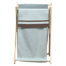 <strong>Sweet Jojo Designs</strong> Hotel Blue and Brown Laundry Hamper