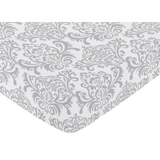 <strong>Sweet Jojo Designs</strong> Elizabeth Fitted Crib Sheet with Damask Print
