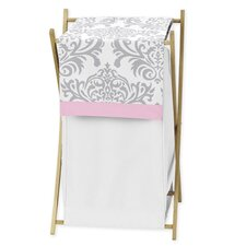 Pink and Gray Elizabeth Laundry Hamper