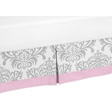 <strong>Sweet Jojo Designs</strong> Pink and Gray Elizabeth Toddler Bed Skirt