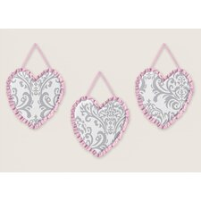 <strong>Sweet Jojo Designs</strong> Pink and Gray Elizabeth Wall Hangings
