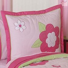 Flower Pink and Green Sham