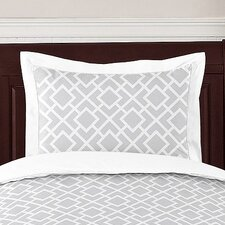 <strong>Sweet Jojo Designs</strong> Diamond Gray and White Standard Pillow Sham