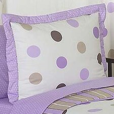 <strong>Sweet Jojo Designs</strong> Mod Dots Purple Standard Pillow Sham