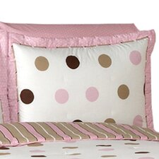 <strong>Sweet Jojo Designs</strong> Mod Dots Pink Standard Pillow Sham