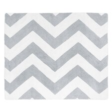 Chevron Gray and White Rug