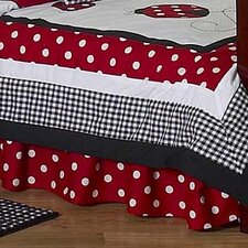 Little Ladybug Toddler Bed Skirt