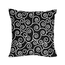 Kaylee Decorative Pillow with Scroll Print
