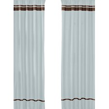 Hotel Cotton Rod Pocket Window Curtain Panel (Set of 2)
