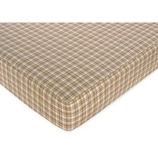 Plaid Fitted Crib Sheet