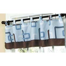 "Geo Blue 84"" Curtain Valance"
