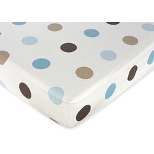 <strong>Sweet Jojo Designs</strong> Mod Dots Large Dot Fitted Crib Sheet