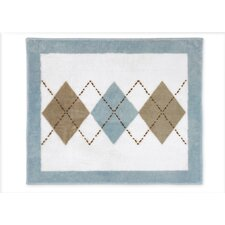 <strong>Sweet Jojo Designs</strong> Argyle Blue Cocoa Collection Floor Rug