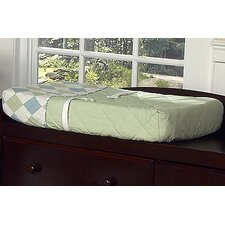 Argyle Green Blue Collection Changing Pad Cover