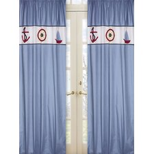 Come Sail Away Cotton Curtain Panel Pair