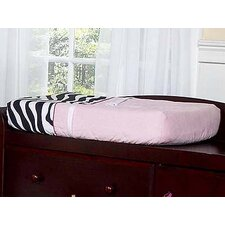 <strong>Sweet Jojo Designs</strong> Zebra Pink Collection Changing Pad Cover