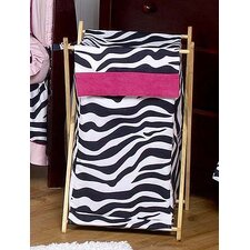 <strong>Sweet Jojo Designs</strong> Zebra Pink Laundry Hamper