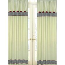 Ladybug Parade Cotton Curtain Panel Pair