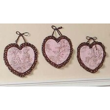 <strong>Sweet Jojo Designs</strong> Pink and Brown Toile Collection Wall Hangings