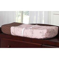 <strong>Sweet Jojo Designs</strong> Pink and Brown Toile Collection Changing Pad Cover