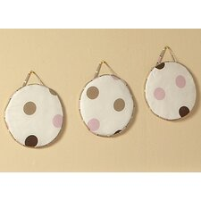 <strong>Sweet Jojo Designs</strong> Mod Dots Pink Collection Wall Hangings