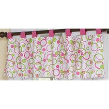 <strong>Sweet Jojo Designs</strong> Circles Pink Cotton Curtain Valance