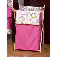 <strong>Sweet Jojo Designs</strong> Circles Pink Laundry Hamper