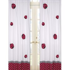 Little Ladybug Cotton Curtain Panel Pair